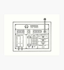 Horizons Load Console Control Panel Diagram from Epcot Art Print