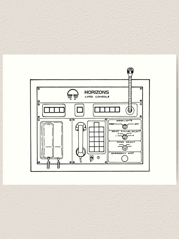 Alternate view of Horizons Load Console Control Panel Diagram from Epcot Art Print