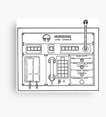 Horizons Load Console Control Panel Diagram from Epcot Canvas Print