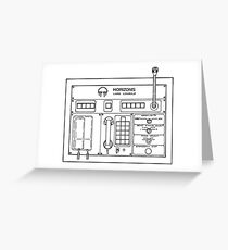 Horizons Load Console Control Panel Diagram from Epcot Greeting Card