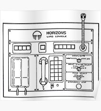 Horizons Load Console Control Panel Diagram from Epcot Poster