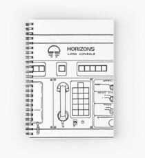Horizons Load Console Control Panel Diagram from Epcot Spiral Notebook