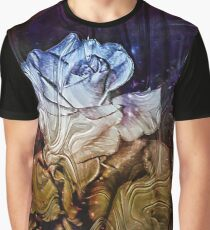 Metalic Rose Graphic T-Shirt