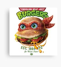 Tenderloin Meat Juicy Burgers Canvas Print