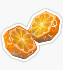 Diced Orange Sticker