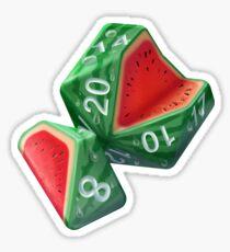 Diced Watermelon Sticker