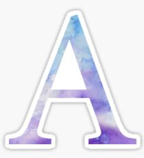 Alpha Blue Watercolor Letter Sticker