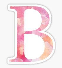 Beta Pink Watercolor Letter Sticker