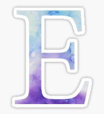 Epsilon Blue Watercolor Letter Sticker