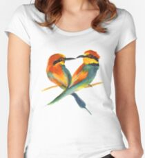 Lover Birds Women's Fitted Scoop T-Shirt