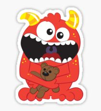 Monster and His Teddy Sticker