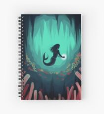Mermaid In the Ocean Under Water Spiral Notebook