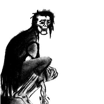 Gothic Gargoyle Perch (full alpha) by AbsinthTears