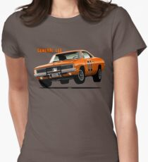General Lee Dodge Charger Women's Fitted T-Shirt