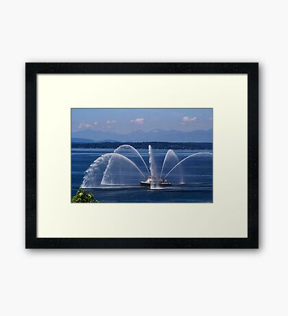 Seattle Fireboat Framed Print