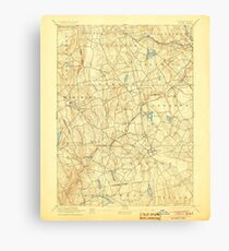 USGS TOPO Map Connecticut CT Gilead 331027 1892 62500 Canvas Print