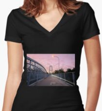 Walter Taylor Bridge  Women's Fitted V-Neck T-Shirt