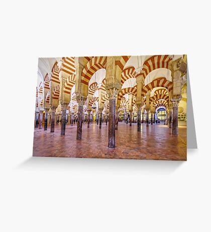 La Mezquita Interior - Cordoba - Spain Greeting Card