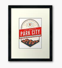 PARK CITY UTAH MOUNTAINS SKIING SKI SNOWBOARD Framed Print