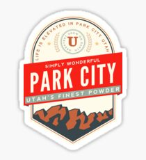 PARK CITY UTAH MOUNTAINS SKIING SKI SNOWBOARD Sticker