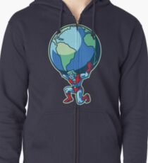 The Weight of the World Zipped Hoodie