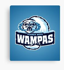 Planet Hoth Wampas Canvas Print