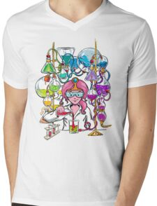 Science With Princess Bubblegum Mens V-Neck T-Shirt