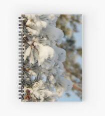 Snow Dusted Tree Spiral Notebook