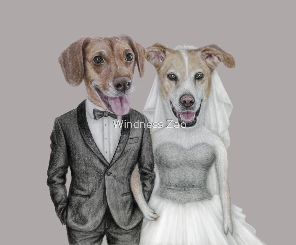 dogs wedding by Windness Zao