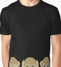 Three Wise Monkeys Graphic T-Shirt