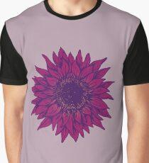 Purple flower Graphic T-Shirt