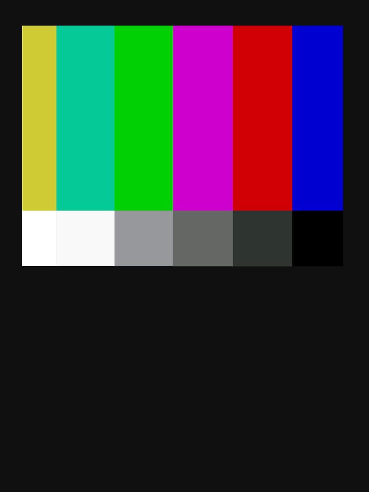 Barras de color de televisión de definición estándar SMPTE de barrelroll1