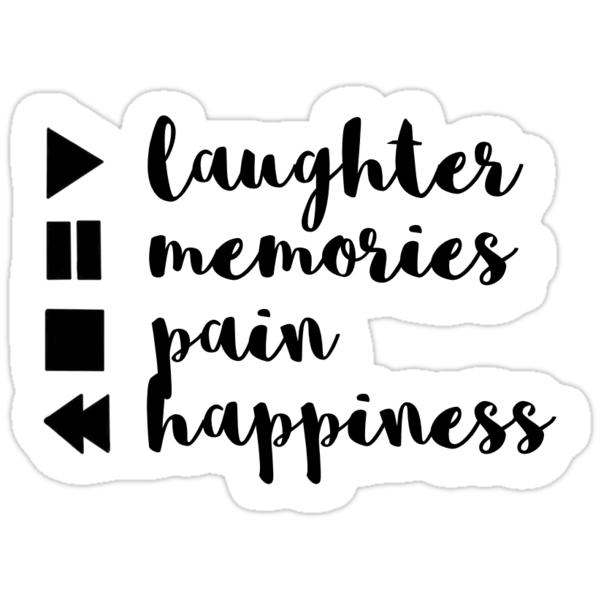 Tumblr quote stickers by annac99 redbubble - Pegatinas pared frases ...