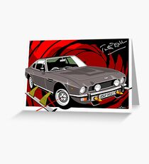 Aston Martin AM V8 from the Living Daylights Greeting Card