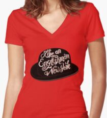 Like an Englishman in New York Women's Fitted V-Neck T-Shirt