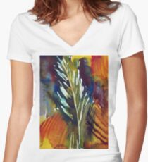 Grass Harp 002 Women's Fitted V-Neck T-Shirt