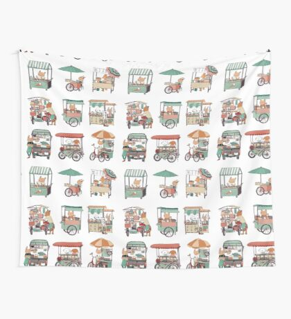 Food vans of Thailand Wall Tapestry