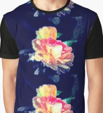 Roses with a splash of colour Graphic T-Shirt