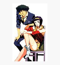 Spike Spiegel and Faye Valentine Photographic Print