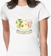Crazy Bird Lady Women's Fitted T-Shirt