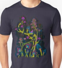 neon magic mushrooms T-Shirt