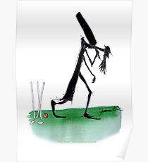 England Cricket old father time - tony fernandes Poster