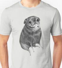 Camiseta ajustada Dulce negro Pug