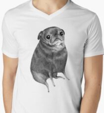 Sweet Black Pug Men's V-Neck T-Shirt
