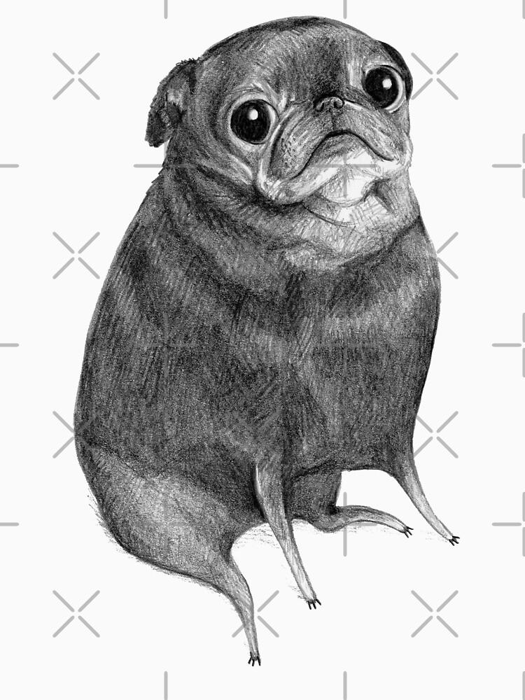Sweet Black Pug by SophieCorrigan