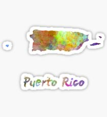 Puerto Rico  in watercolor Sticker