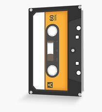 Awesome Music Mix Tape - Vintage design Greeting Card