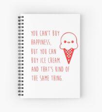 Ice cream happiness Spiral Notebook