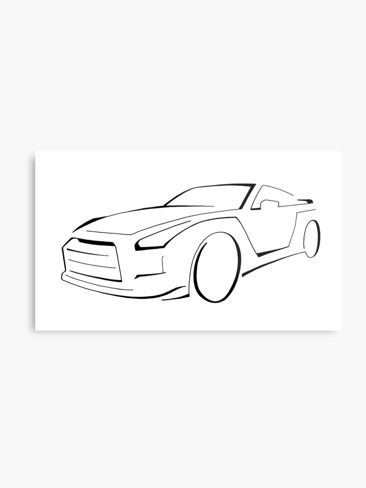 Nissan Gt R Drawing