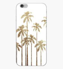 Bezaubernde Goldtropische Palmen auf Weiß iPhone-Hülle & Cover